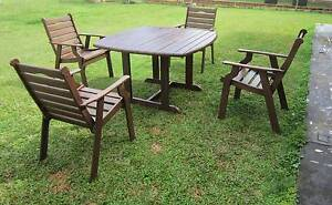 REFURBISHED JARRAH 5 PIECE COURTYARD OUTDOOR SETTING CAN DELIVERY Aspley Brisbane North East Preview