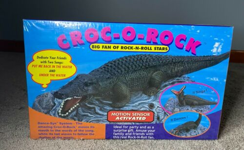 Gemmy Croc O Rock Motion Activated Singing Dancing Crocodile New SEALED NOS
