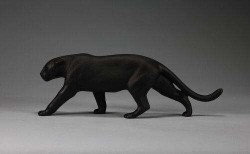 BLACK PANTHER, JAGUAR Sculpture New direct by John Perry 12in long Free standing