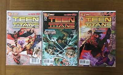 Teen Titans  DC New 52   Issues 1, 2, & 3   NM Condition