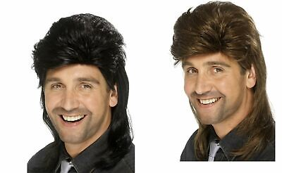 MULLET WIG white trash hillbilly adult mens halloween costume accessory - White Costume Wig