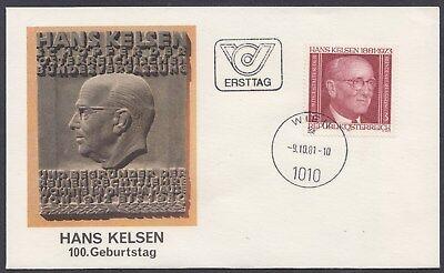 Österreich Austria 1684 FDC 100. Geb. Hans Kelsen, Staatsrechtler  - 1981 **