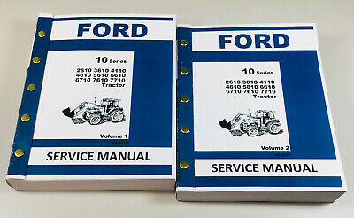Ford Tractor 6610 6710 7610 7710 Service Repair Shop Manual Overhaul