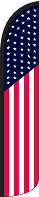 Usa American Windless Full Sleeve Swooper Flag Feather Banner