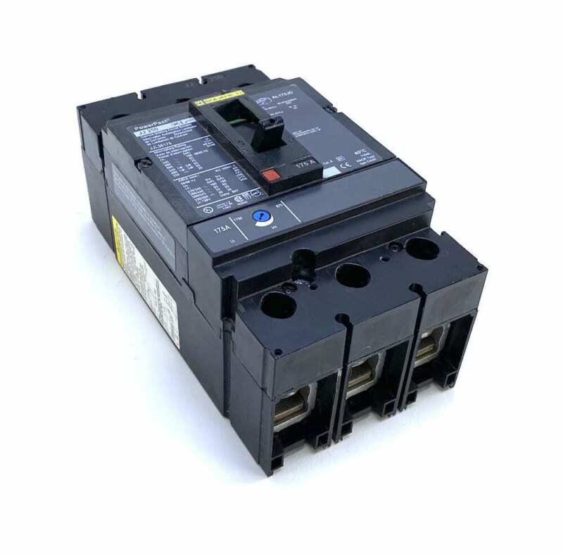 Square D JJL36175 3 Pole 175 Amp 600Vac PowerPact Circuit Breaker