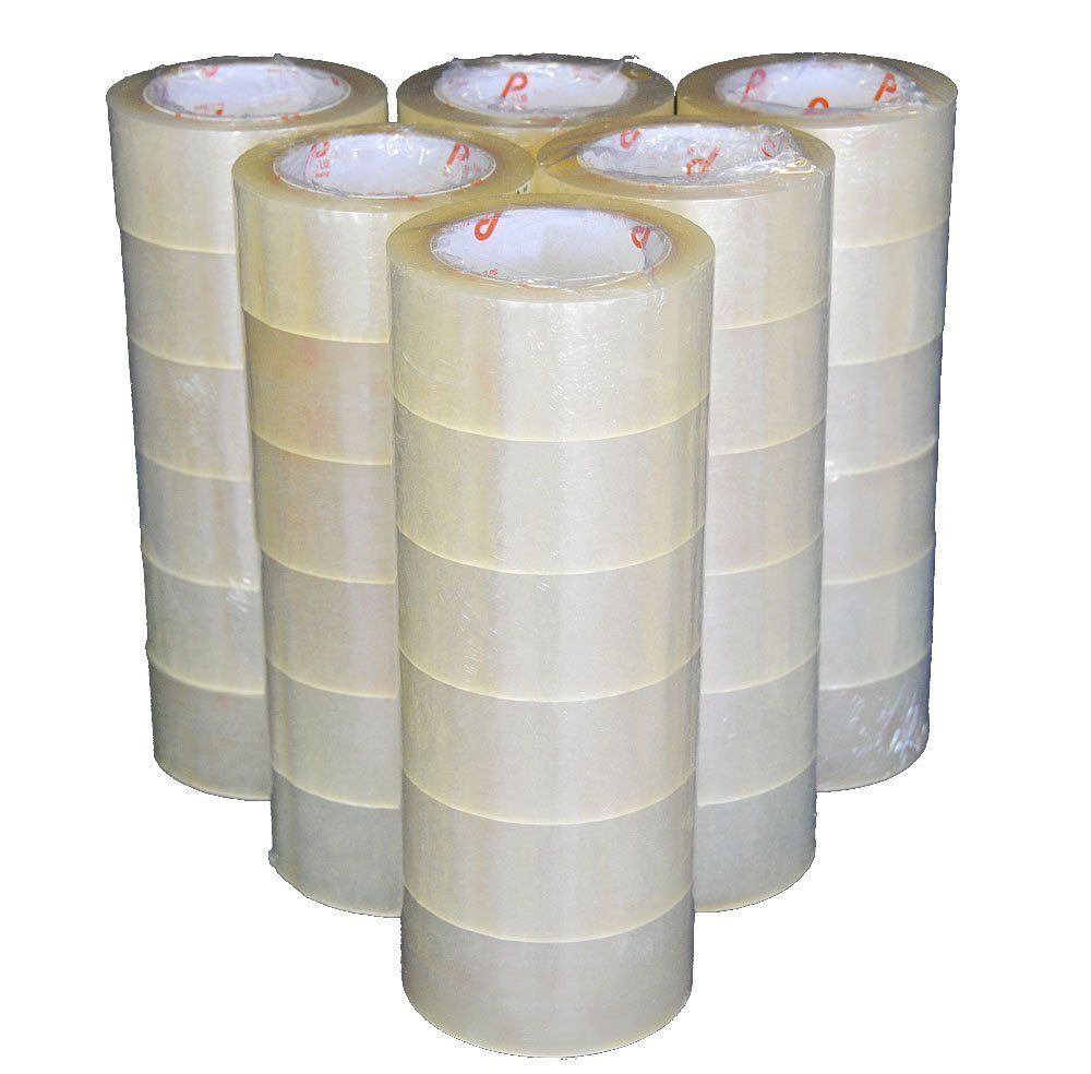 36 ROLLS - 2 INCH x 110 Yards  Clear Carton Sealing Packing