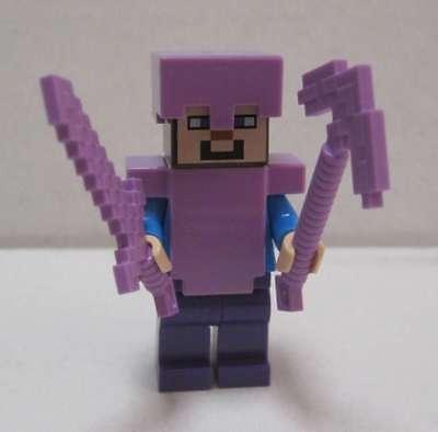 LEGO Minecraft Steve mit verzauberter Rüstung + Waffe (Figur) unbespielt  ()