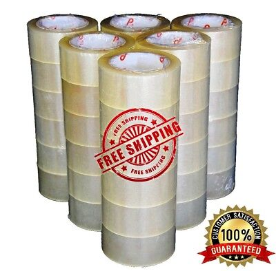 36 Rolls Carton Box Sealing Packing Package Clear Tape 2 Mil 2x110 Yards 330 Ft