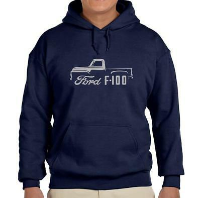 1953 Ford F100 Pickup - 1953-56 Ford F100 Pickup Truck Navy Blue Hoodie Sweatshirt FREE SHIP