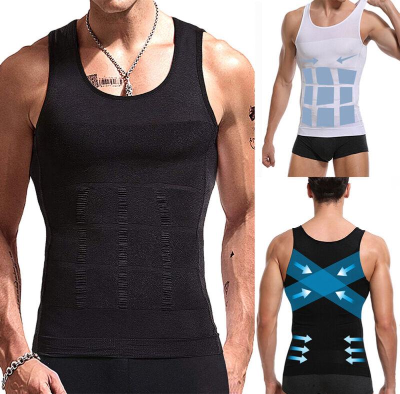 Men Slimming Body Shaper Posture Corrector Vest Abdomen Comp