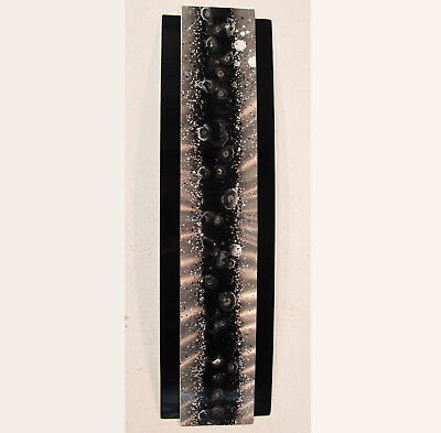 Black & Silver Metal Wall Art Modern Abstract Painting Sculpture Decor by Jones ()