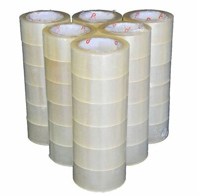108 Rolls Clear Packaging Tape Sealing Packing Tape 2x110 Yards