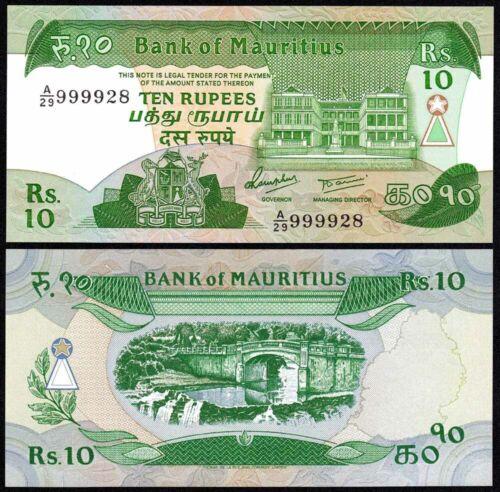 MAURITIUS (1985) 10 Rupees P-35 UNC