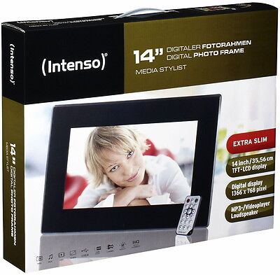 Intenso digitaler Bilderrahmen Video Photo Frame Media Stylist 14 Zoll ()