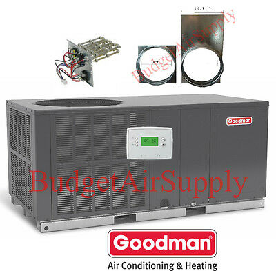 "5 Ton 14 seer Goodman A/C""All in One""Package Unit GPC1460H41+TSTAT+Heat-ADAPTERS"
