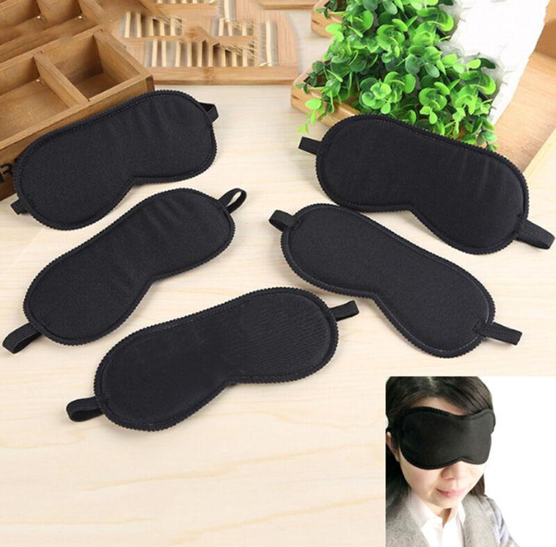 Black Sleep Eye Mask Filled Sunshade Travel Sleep Relaxation