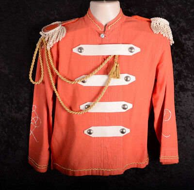 Adult Toy Soldier Nutcracker Costume Jacket ORANGE Epaulette Size Small S
