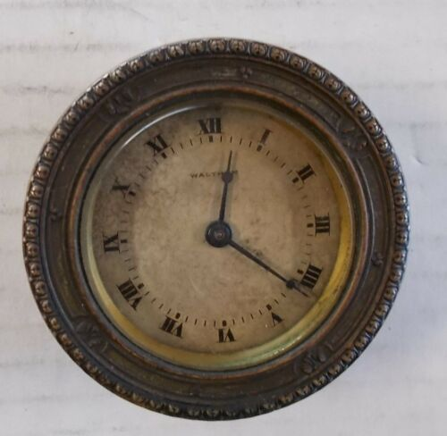 Vintage 1910 Waltham Watch Co. 8 day Automobile Dash Car Clock