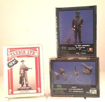 Lot of 3 Model Kits Taxdir Tax F8 Spetnatz Verlinden 409 Verlinden 365