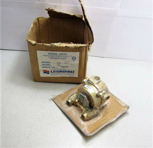 "Leonard 210/TA Thermostatic Water Mixing Valve 1/2"" Inlets 1/2"" Outlet 210-SB"
