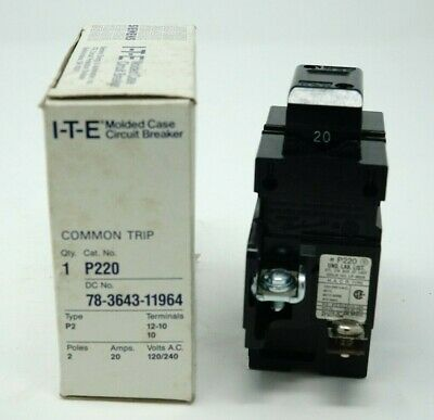 Ite Siemens P220 Pushmatic Circuit Breaker Brand New In Box