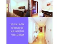 Luxurious Double Room in Baker Street area