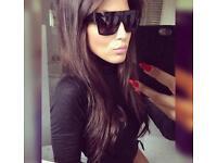Céline CL 41756 sunglasses ZZ top Black Kim K look