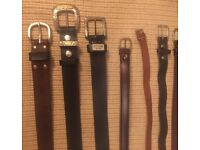 NEW Leather Belts - various sizes (13 in total)
