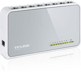 BRAND NEW - 2x TP-Link 8 Port 10/100 Desktop Switch (TL-SF1008D)
