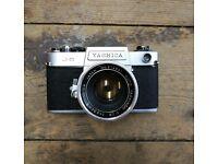 Vintage Yashica J-5 SLR Manual Film Camera Retro Photography
