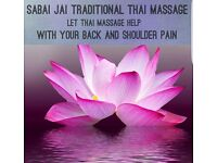 Sabai jai traditional Thai massage open 7 days 10am to 8pm