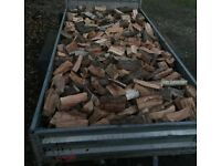 Fire Wood Logs Seasoned Dried Load 2.5m3 (4-5 Builders Bags) Free Delivery Derby Area