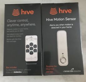 Hive motion sensor x2 new and sealed