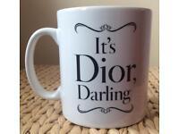 Designer 'It's Dior Darling ' Quote Mug