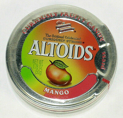 Altoids Sours (1 Sealed Tin) Curiously Strong Mango (Discontinued, RARE)