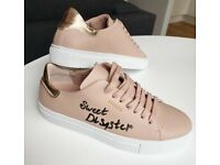 """Sweet Disaster"" 😈 - Customized Axel Arigato, Clean 90 Sneakers, Pink, Size 5"