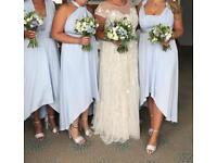 3 x blue multiway bridesmaid dresses