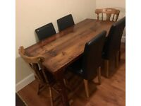 Dining room table & 6x chairs SOLD together or seperate (see ad for details)