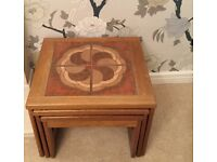 Nest of Wood Side Tables VINTAGE - Excellent Used Condition