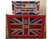 Orange Guitar Amp limited edition Union Jack Rockverb 50 Mk11 head and cab