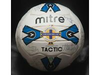 NORTHERN IRELAND 90'S 1990'S TEAM SIGNED MITRE TACTIC FOOTBALL