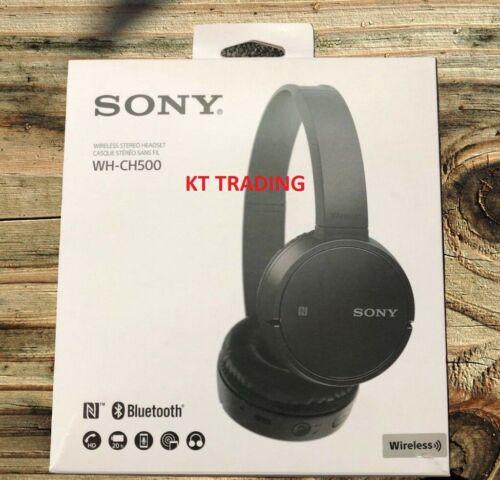 Sony WH-CH500 Wireless On-Ear Bluetooth Headphones - BLACK - NEW