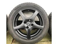 Mazda MX5 mk1/2 (89-05) alloy wheels with nearly new winter tyres