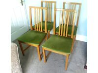 Good Quality Solid 4 Dining Room Chairs Excellent condition ideal for extra seating for Christmas