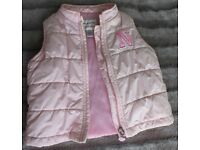 Baby Girl Clothes 9-12 Months Winter Jacket Coat bodywarmer Hooded Jilet NEXT