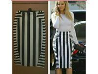 Khloe Kardashian stretch skirt