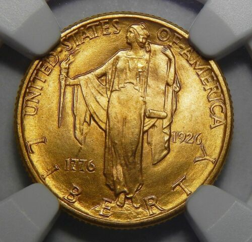 1926 NGC MS65 SESQUICENTENNIAL $2.50 GOLD COMMEMORATIVE