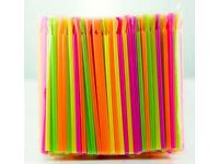 Neon Slush Spoon Straws Slushies Snow Cones Milkshakes Smoothies 45 Packs x 200