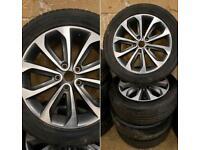 "18"" Nissan qashqai / Juke alloy wheels and continental tyres 6mm"