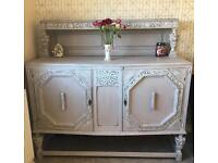 Lovely detailed sideboard cupboard cabinet painted and distressed